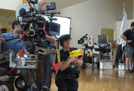 Lynne Ramsay en el rodaje de 'Tenemos que hablar de Kevin'