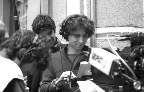 Jonás Trueba durante el rodaje